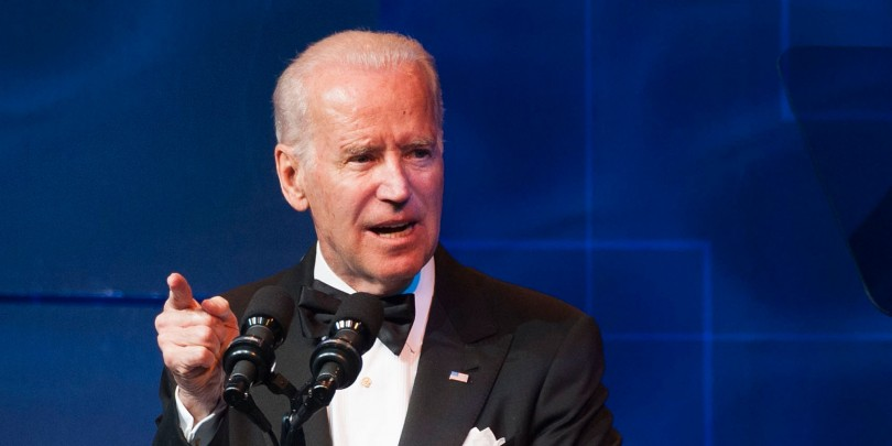 LOS ANGELES, CA - MARCH 22:  Vice President of the United States Joe Biden speaks during the Human Rights Campaign Los Angeles Gala Dinner at JW Marriott Los Angeles at L.A. LIVE on March 22, 2014 in Los Angeles, California.  (Photo by Valerie Macon/Getty Images)