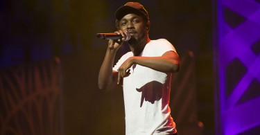 Kendrick Lamar seen during We Day at the Air Canada Centre on Thursday, Oct. 2, 2014, in Toronto, Canada. (Photo by Arthur Mola/Invision/AP)