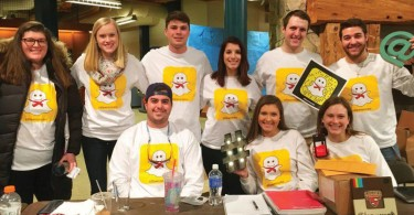 Some members of the Social Media Team during the Club Fair on Friday, January 29.