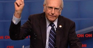 Larry David reveals on SNL that he is in fact Bernie Sanders and his candidacy was a joke.