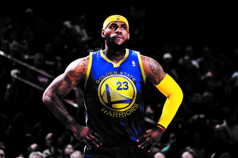 """b0f15d92fa44 LeBron James """"Taking His Talents to Golden State"""" in the 2018 Season ..."""